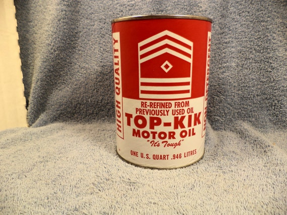 Top Kik Re Refined Motor Oil 1 Quart Motor Oil Can With Bank