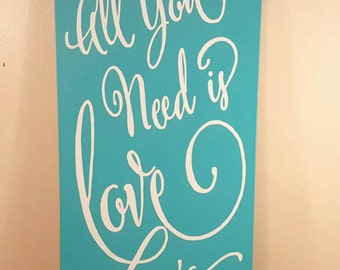 All You Need is Love Wooden Wall Decor