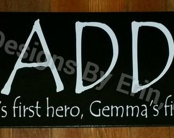Daddy, Personalized Wooden Wall Art