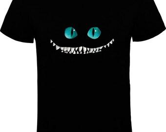 T-shirt. Painted by hand. Cheshire Cat. T-shirt Cheshire completo cat. Handmade.