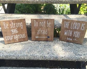Joshua 1:9 Sign Set