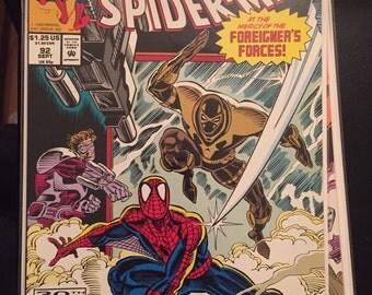 1992 Marvel Comics Web of Spiderman #92