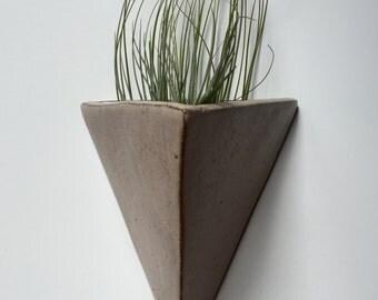 Taupe | Matte Triangle Planter