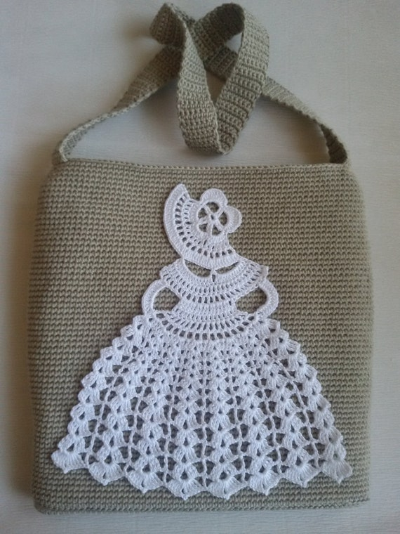 Crochet Bag Pattern PDF Crochet Bag with Crinoline Lady PATTERN PDF ...