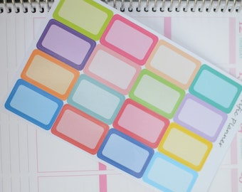 Half Box Rounded Labels For Planners  Stickers Multi Colors #002