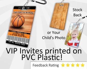 Basketball Invitation PLASTIC Basketball, Basketball Invitation, Birthday Invitation, Birthday Invite, Basketball Birthday SKU-INV026