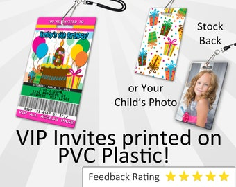 Happy Birthday Invitation PLASTIC Happy Birthday Invite, Happy Birthday Invitation, Birthday Invite, Happy 1st Birthday
