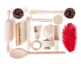 Treasure Basket Wooden Toys - 15 Items