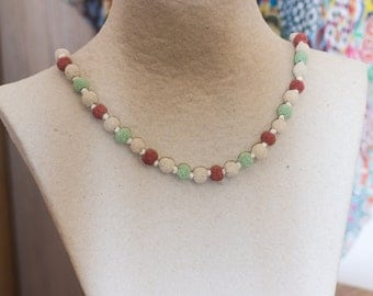 Volcanic Lava Necklace - Mixed Pastel