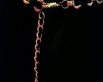 Worth Collection Woman's Chain and Leather Belt