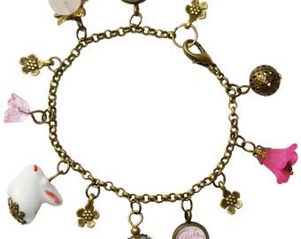 Sakura & Usagi charm bracelet
