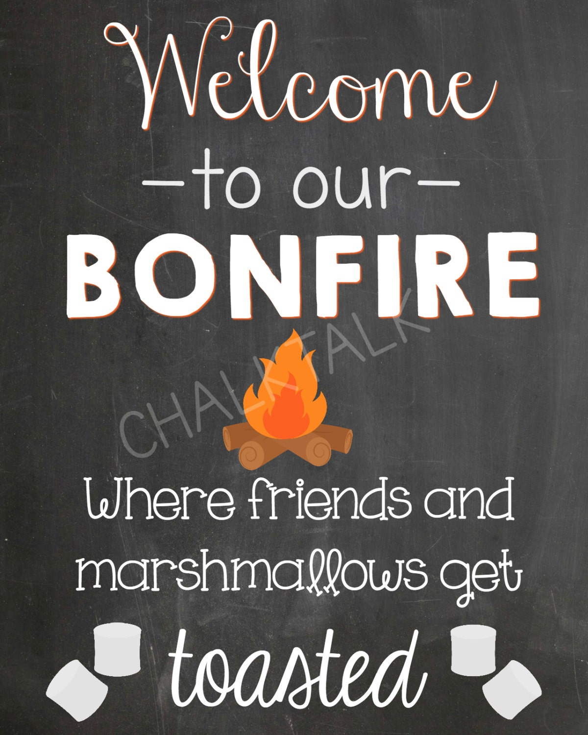 Welcome To Mr Hardison S Page: Bonfire Chalkboard Welcome To Our Bonfire Summer
