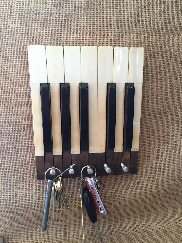 Ivory Piano Key Keyholder Wall Hanging Piano Keys By