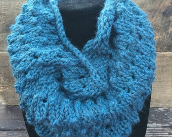 Teal Snood | Infinity Scarf  | Green, Blue |  Blue Cowl | Super Soft | Hood | Circle Scarf | Gift for Her