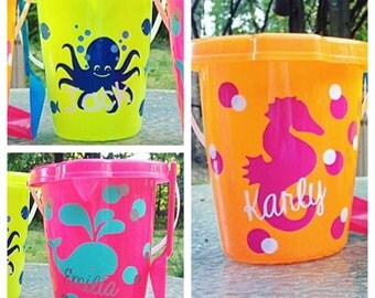 Personalized Beach/Sand Bucket w/ Shovel