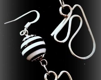 Earrings - Starburst with Stripes