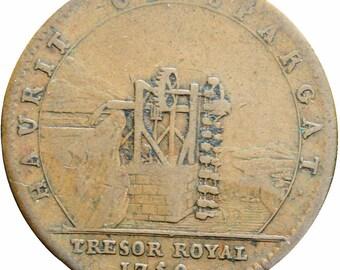 1750 France Louis XV Tresor Royal Token