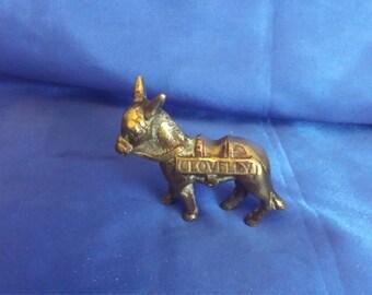 Small Brass Clovelly Donkey .