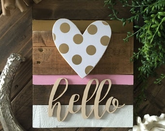 Modern rustic wood wall art sign nursery