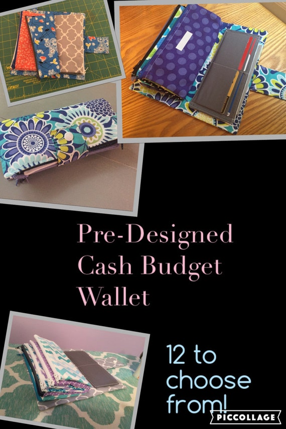 cash budget wallet zippered pocket wallet coupon organizer