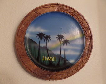 Vintage Decorative painted Hawaii plate