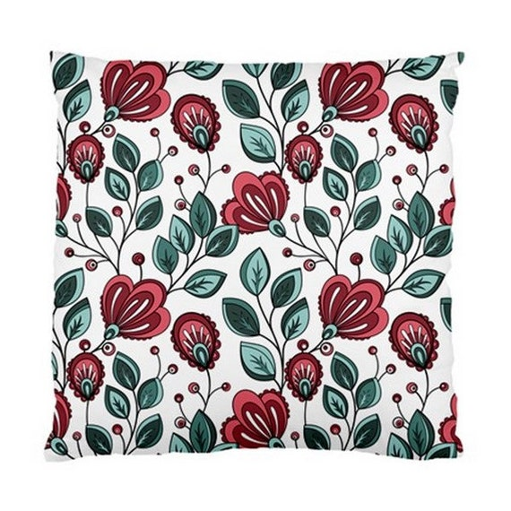 Designer Throw Pillows Large Floral Cushion Case by HanamiiBlooms