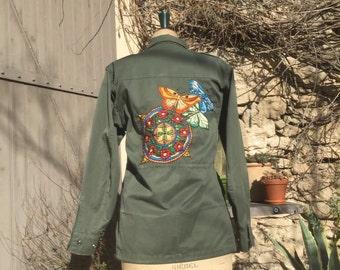 """Jacket """"Mandala & Moth"""""""