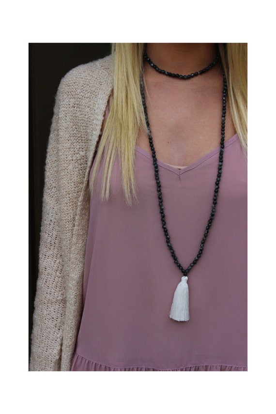 how to make double wrap beaded necklace