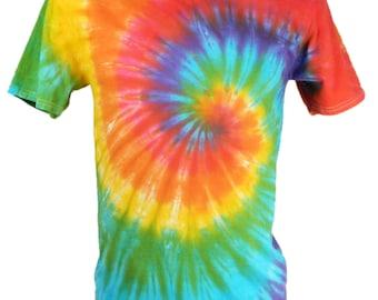 Tie Dye Bright Spiral Festival T-Shirt