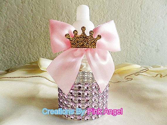 princess baby shower favors pink baby bottle favors bling baby