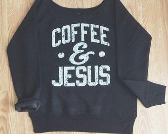 Coffee and Jesus Fleece (Black)