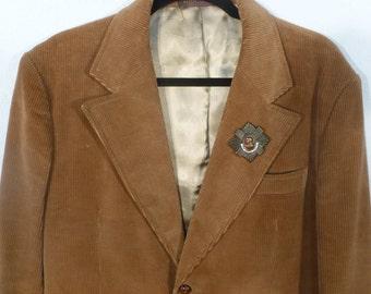 Vintage 70's Corduroy Jacket w/ Leather Elbows - Man's 40-R
