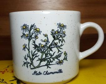 Vintage Chamomile Speckled Stoneware Mug