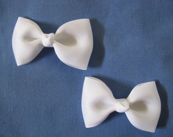 toddler girl hair accessories white bow clips medium
