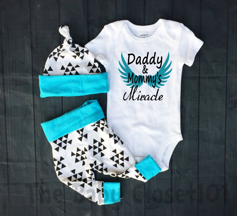 Baby Boy Coming Home Outfit Set Daddy and by thebabycloset101