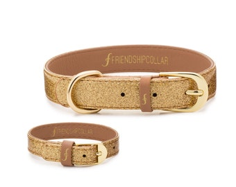 The Sparkling Pup -Glitter Gold FriendshipCollar