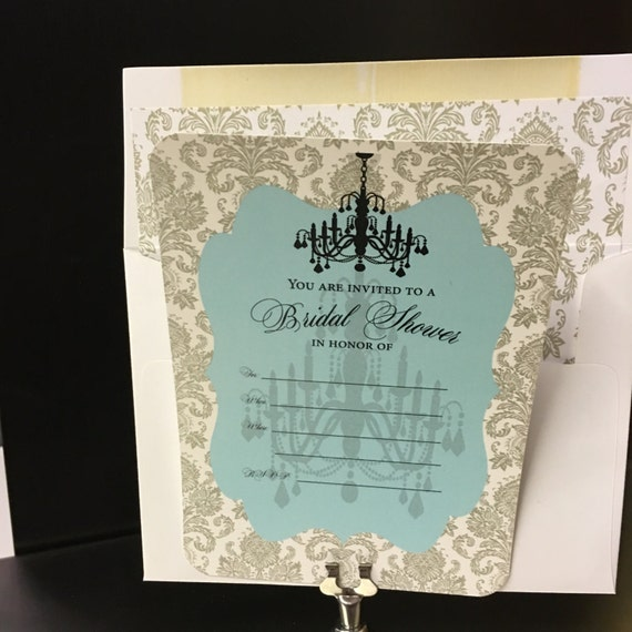 Bridal shower invitation fill in invitation chandelier for Bridal shower fill in invitations