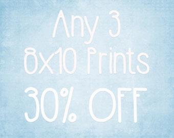 8x10 Prints - Choose any 3 ColorPopPhotoShop Fine Art Photographs
