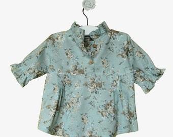 Nehru-collared floral shirt