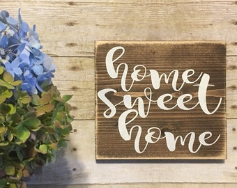 Home Sweet Home| Wood Sign | Gallery Wall | Wedding Gift | Wall Hanging | Wall Decor |Home Decor | New Home Decor | Gallery Wall Decor |Home
