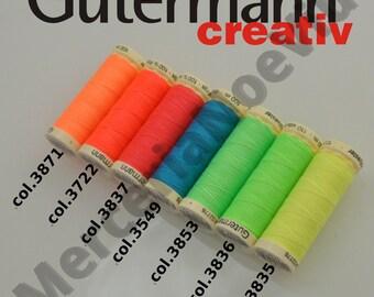 Gütermann creativ Neon thread  in seven neon colour tones.