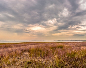 Storm Clearing along Joppa Flats from the MA Audubon Headquarters Newburyport, MA USA Color Photo Print
