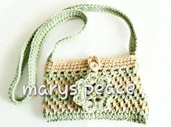 Crochet Cell Phone Purse : Crochet cell phone purse, bag, holder. Mint green and beige. Great ...