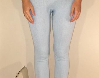 Powder Blue Vintage Leggings