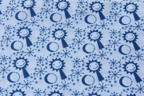 Design sun moon stars european fabric for Sun moon stars fabric