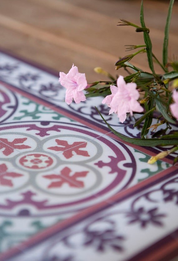 Carrelage Design tapis lino : Tapis carreaux motif du00e9coratif linolu00e9um tapis de PVC vinyle ...