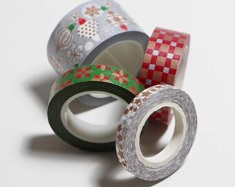 Washi tape Christmas ornaments - Washi tape set