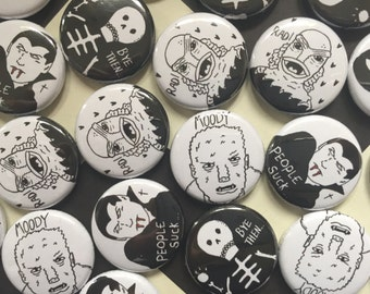 Horror Button Badges.