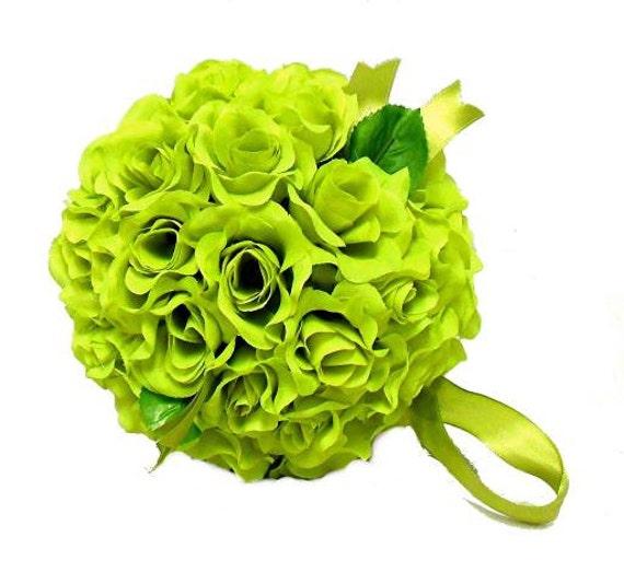 "Green pomander ball for decoration 4.5"" kissing pomander set of 6"