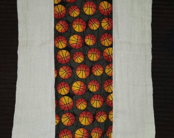 Basketball print burp cloth